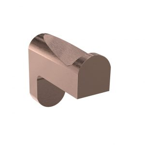 Bassini Brushed Rose Gold Robe Hook